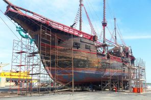Scheduled Maintenance for the Marigalante Pirate Ship Puerto Vallarta