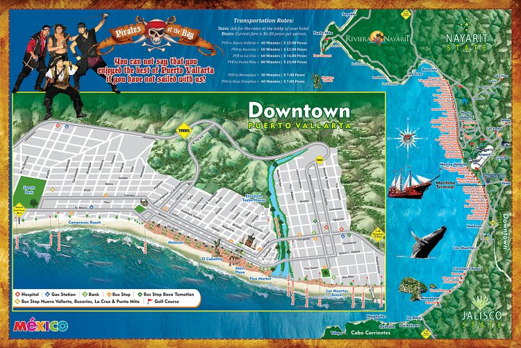 Puerto Vallarta World Map.Contact Us Marigalante Pirate Ship Vallarta