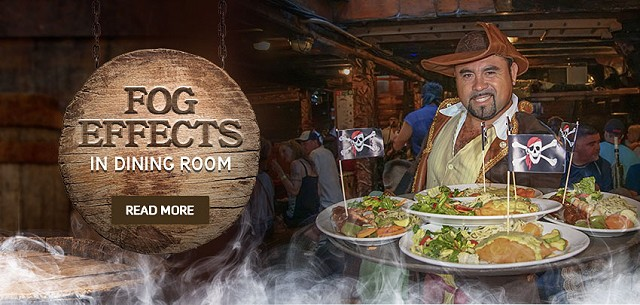 Fogs Effects pirat ship vallarta